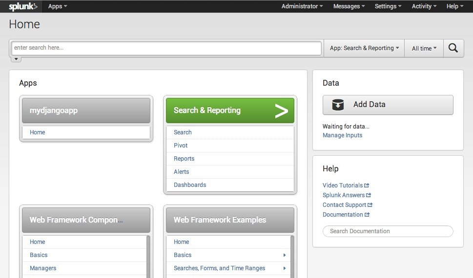 1 create an app and add a page template splunk new apps pronofoot35fo Choice Image